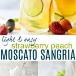 pinterest image for strawberry peach moscato sangria