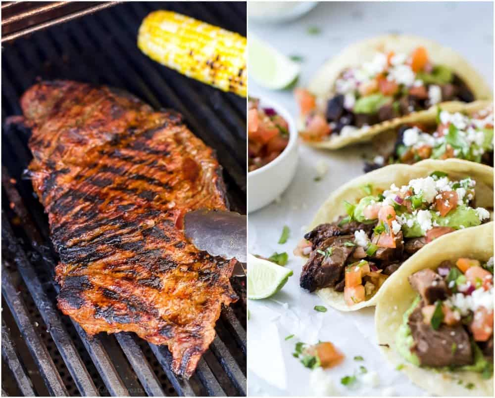 grilled carne asada and then assemble carne asada tacos