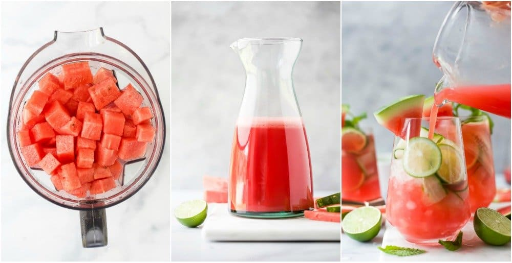 how to make a watermelon gin cocktail