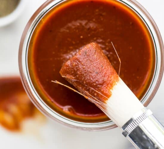 sweet smoky homemade bbq sauce in a mason jar