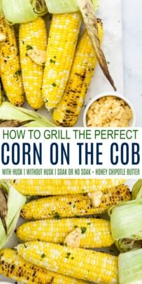 pinterest image for how to grill corn on the cob perfectly