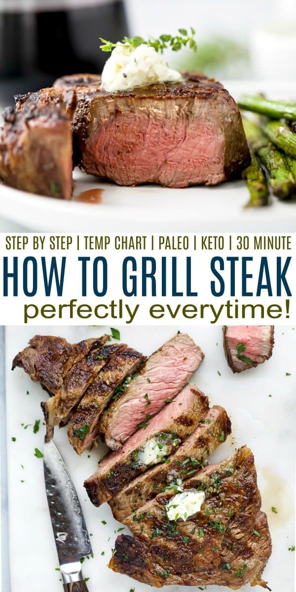 pinterest image for how to grill steak perfectly every time.