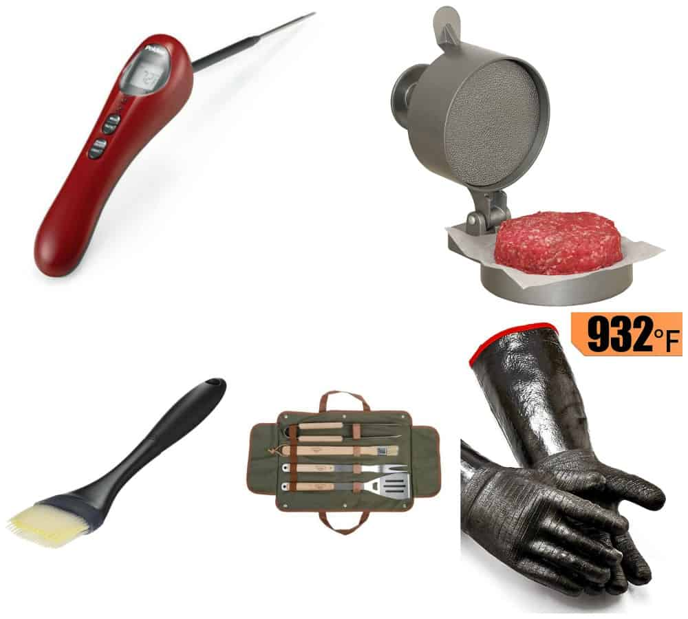 a collection of my favorite go to grilling tools and accessories