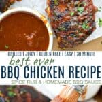 pinterest image for best ever bbq chicken recipe