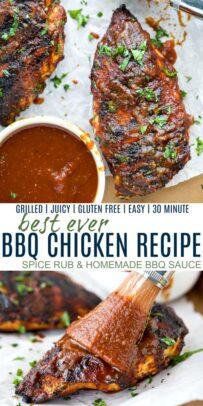 pinterest image for best ever bbq chicken recipe