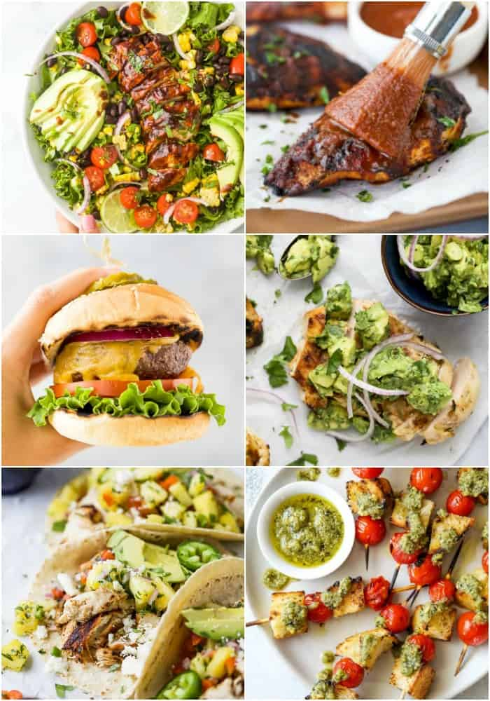 feature image for 30 quick easy grill recipes