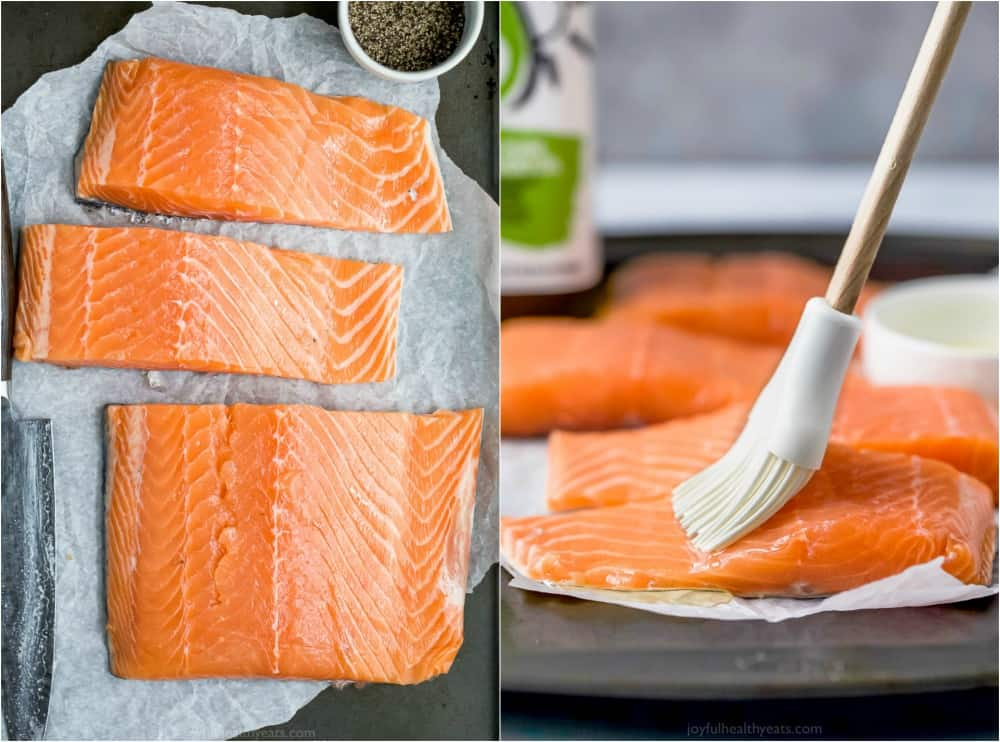process of how to grill salmon