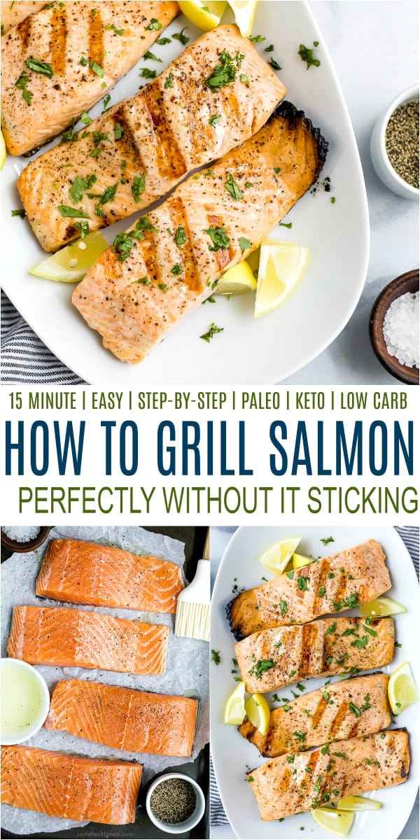 pinterest image for how to grill salmon perfectly