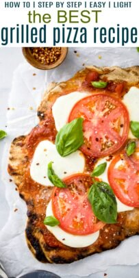 pinterest image for best grilled pizza recipe ever