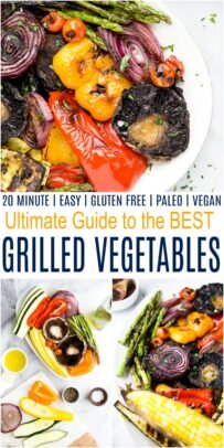 pinterest collage for the ultimate guide for the best grilled vegetables