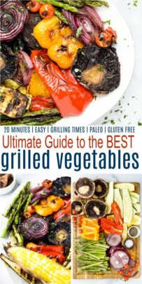 pinterest collage for ultimate guide for the best grilled vegetables