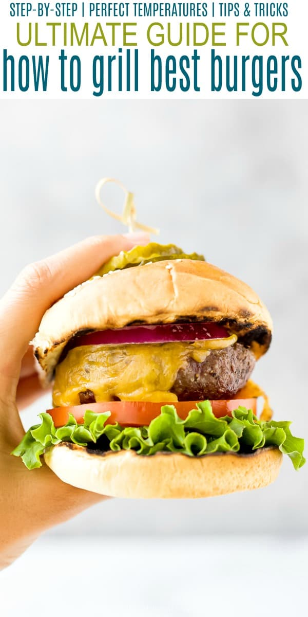 pinterest collage for ultimate guide for how to grill the best burgers