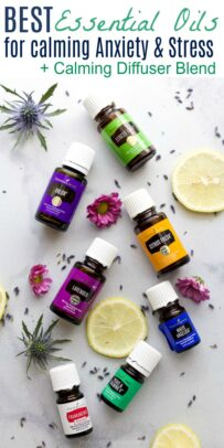 pinterest collage for best essential oils for calming anxiety