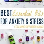pinterest image for best essential oils for calming anxiety