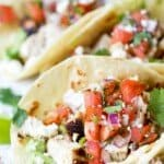 pinterest image for easy cilantro lime chicken tacos
