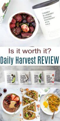pinterest image for honest daily harvest review