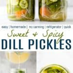 pinterest image for best dill pickles