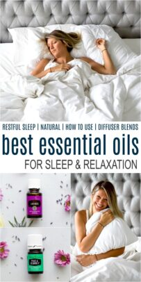 pinterest collage for best essential oils for sleep