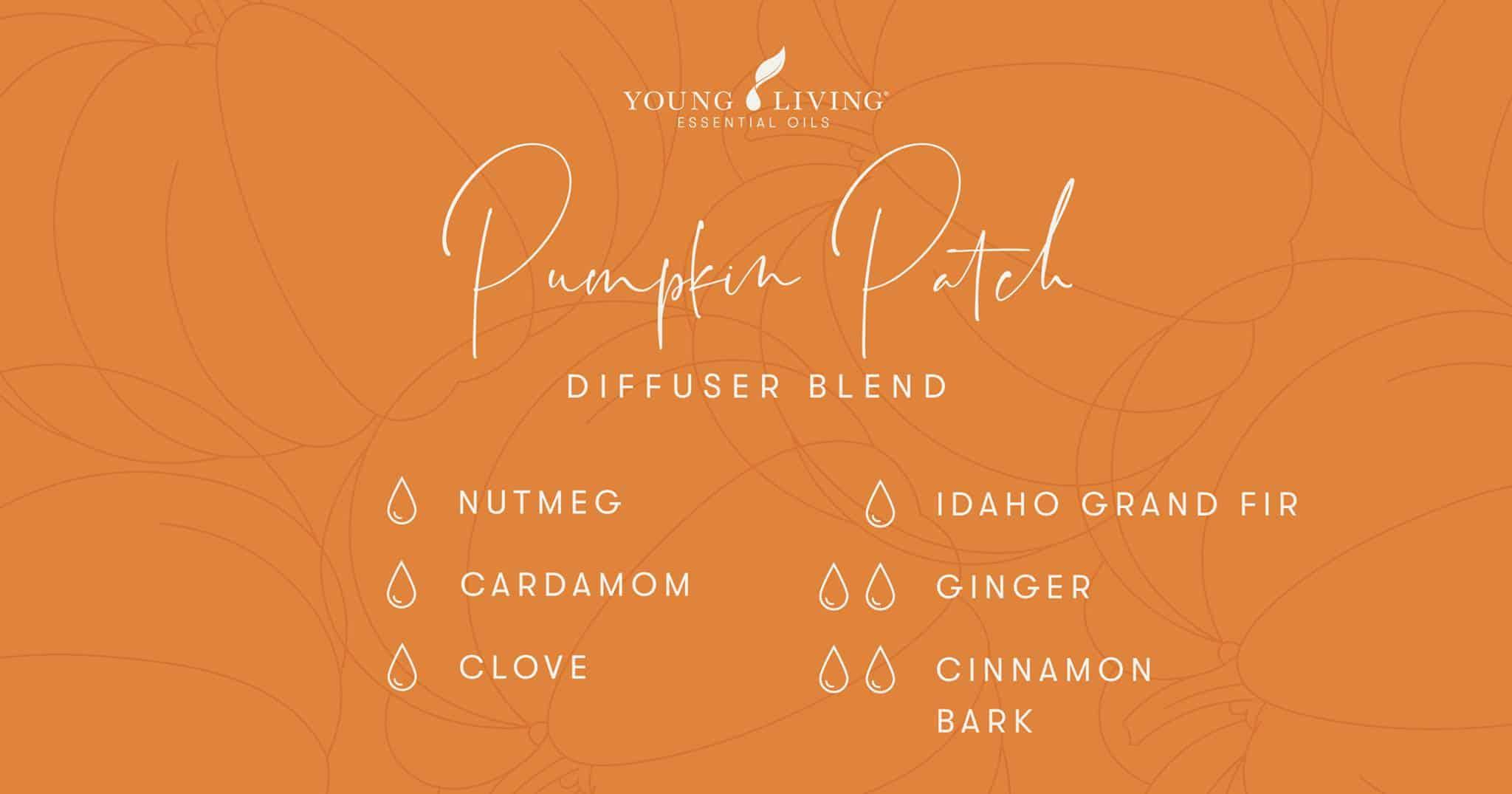 Pumpkin Patch essential oil diffuser blend recipe
