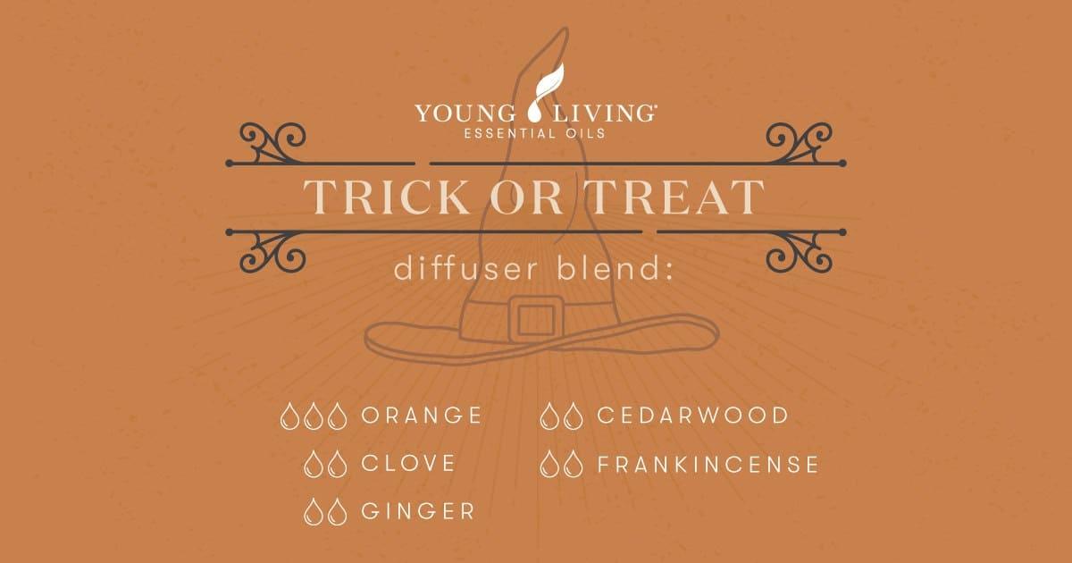 Trick or Treat essential oil diffuser blend recipe