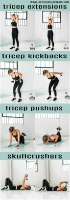 tricep exercises for toned arms
