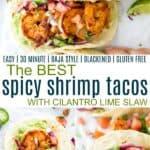 pinterest image for best spicy shrimp tacos