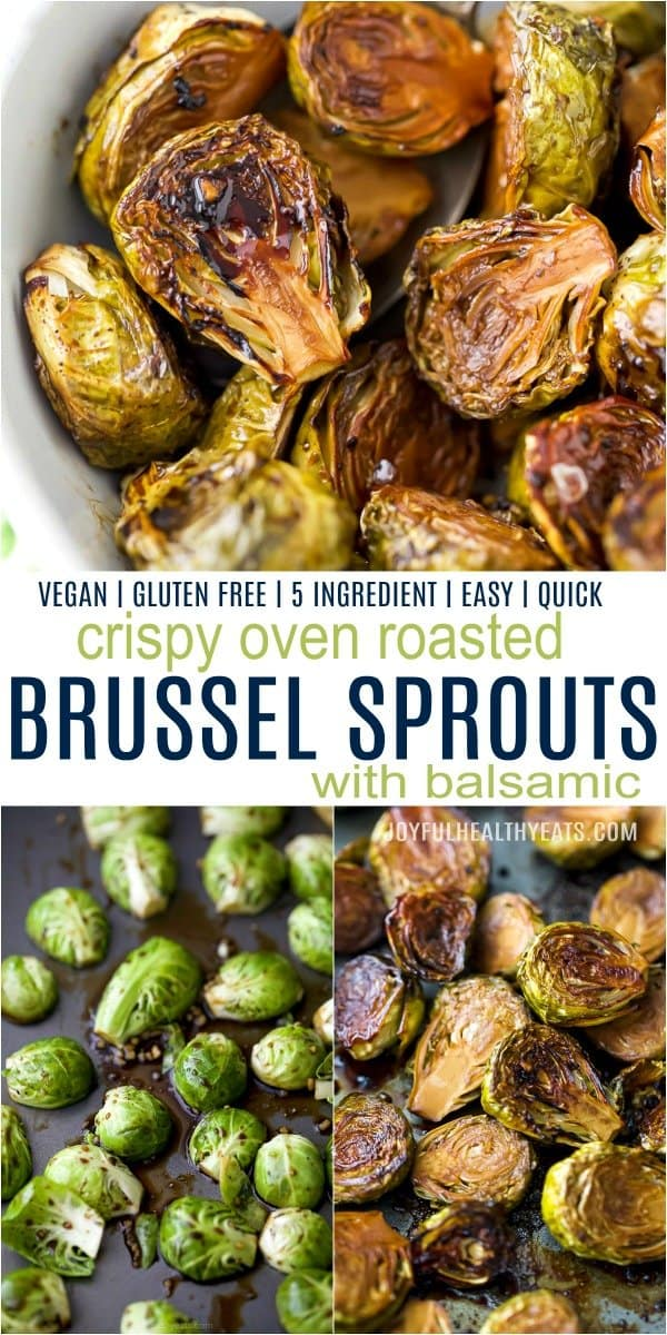 pinterest image for roasted brussel sprouts with balsamic