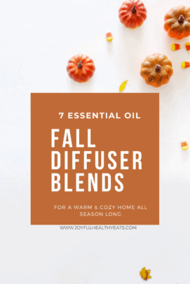7 Essential Oil fall diffuser blends graphic