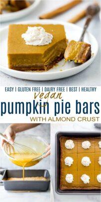 pinterest collage for pumpkin pie bars