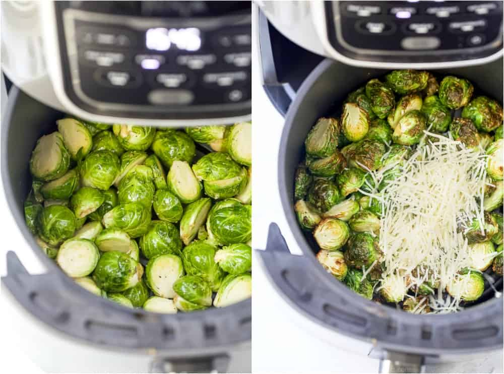 brussel sprouts in an air fryer