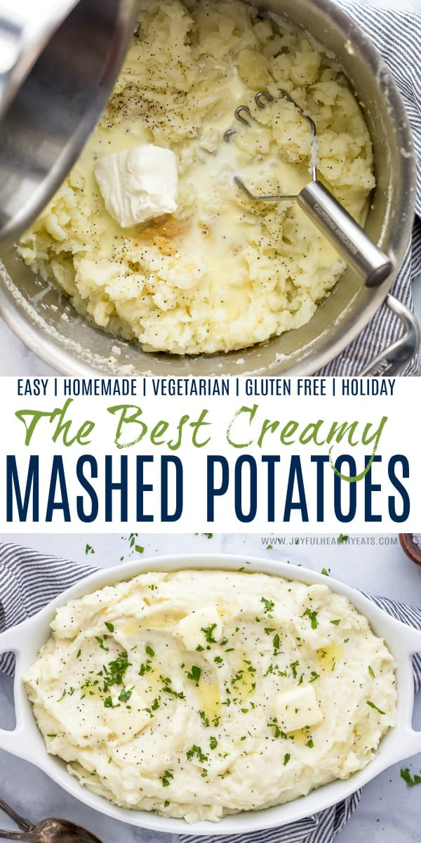 pinterest image for best creamy mashed potatoes