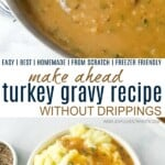pinterest image for turkey gravy without drippings