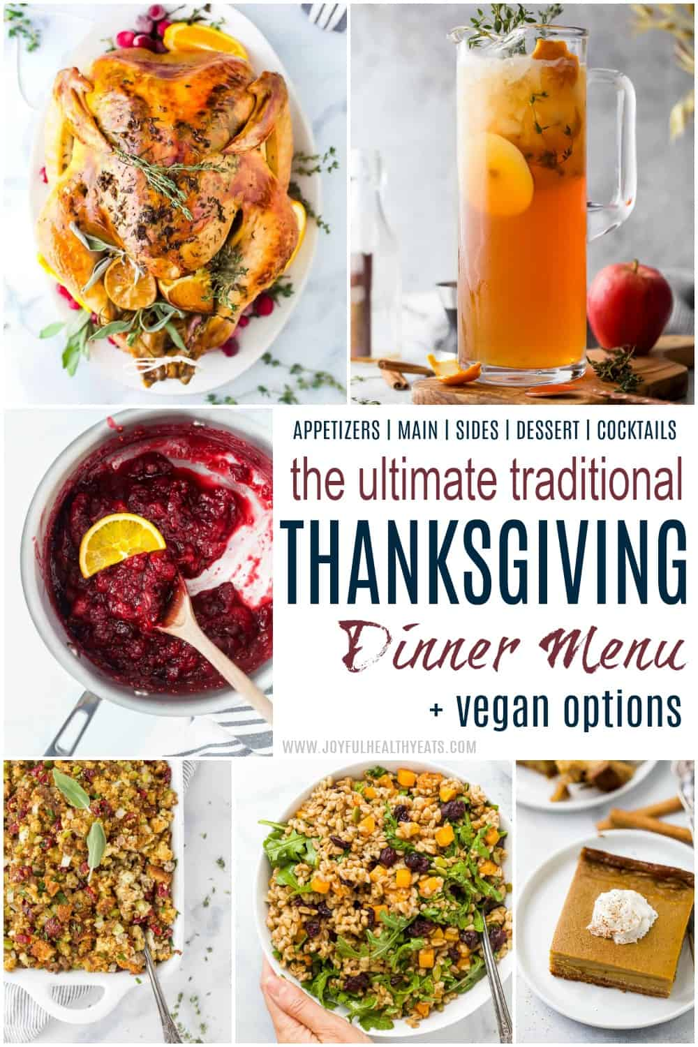 pinterest image for ultimate traditional thanksgiving menu