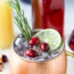 pinterest image for cranberry moscow mule
