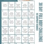 pinterst image for 30 day workout challenge