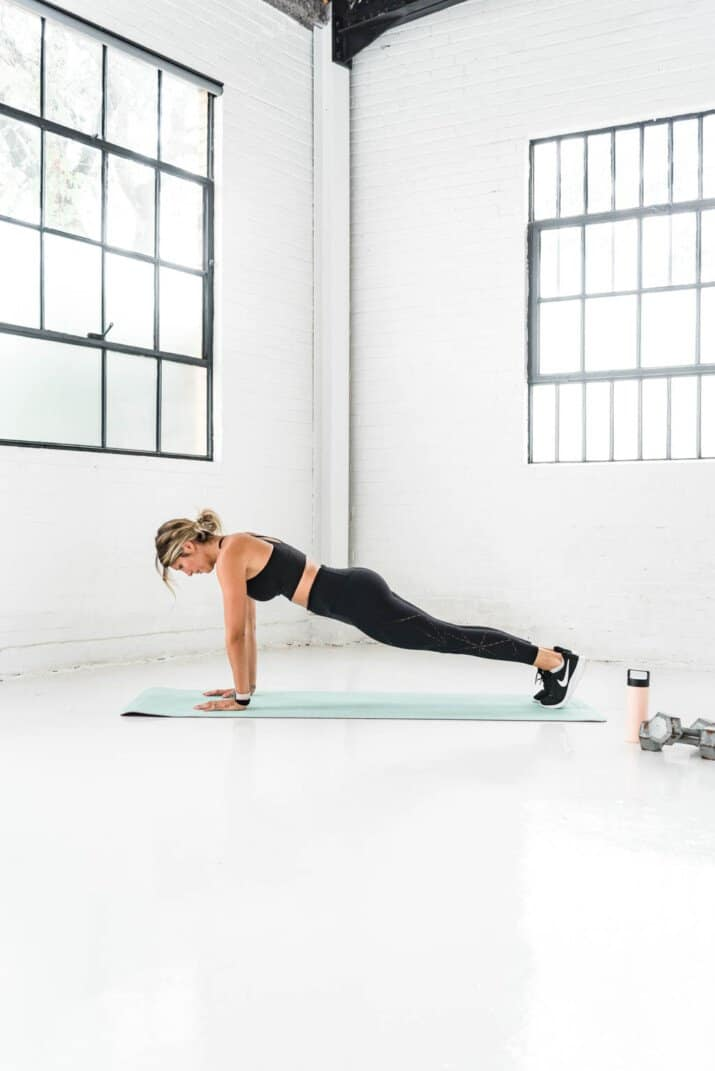 girl in a plank position