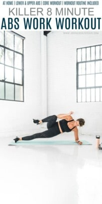 pinteest image for my favorite 8 minute abs workout