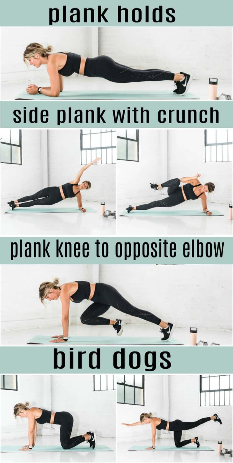 pinterest image for 8 minute abs workout