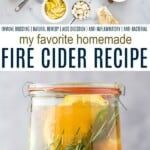 pinterest image for fire cider recipe