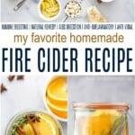 pinterest image for homemade fire cider