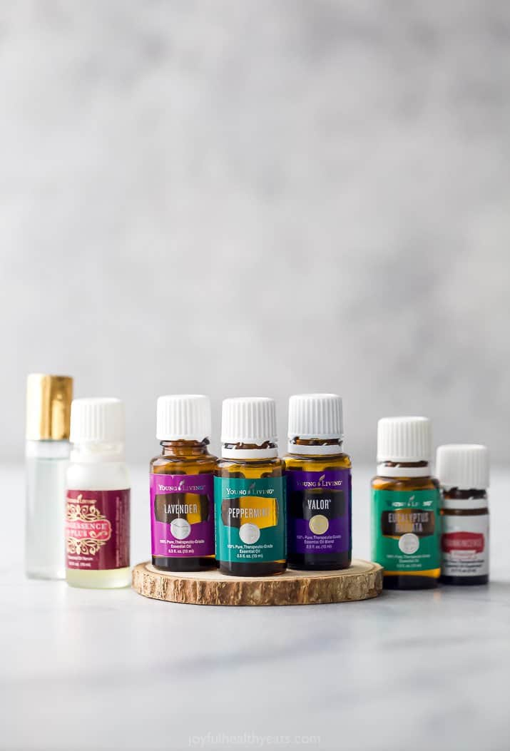 essential oils lined out