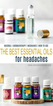 Collage for the Best Essential Oils for Headaches