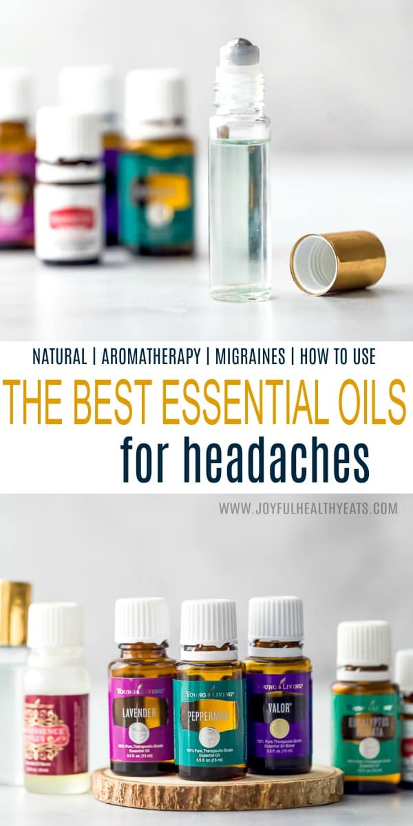 pinterest image for essential oils for headaches