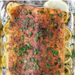 pinterst image for whole30 baked salmon