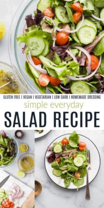pinterest image for everyday salad recipe