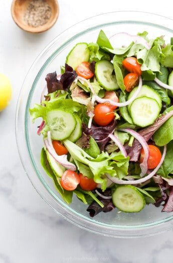 bowl filled with salad