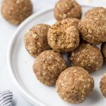 plate filled with protein balls