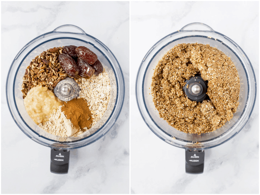 ingredients for energy balls in a food processor
