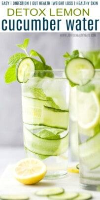 pinterst image for detox lemon cucumber water