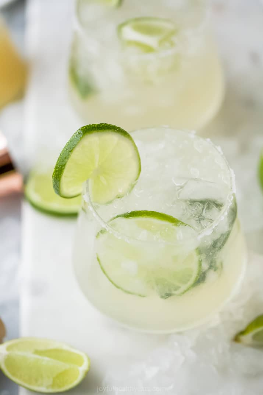 A Close-up Shot of a Skinny Margarita in a Glass